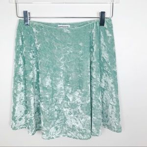 Urban Outfitters Crushed Velvet A Line Skirt
